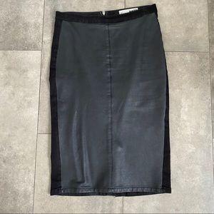 Topshop moto faux leather pencil skirt!